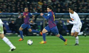 Exercice de foot : travail de la transition