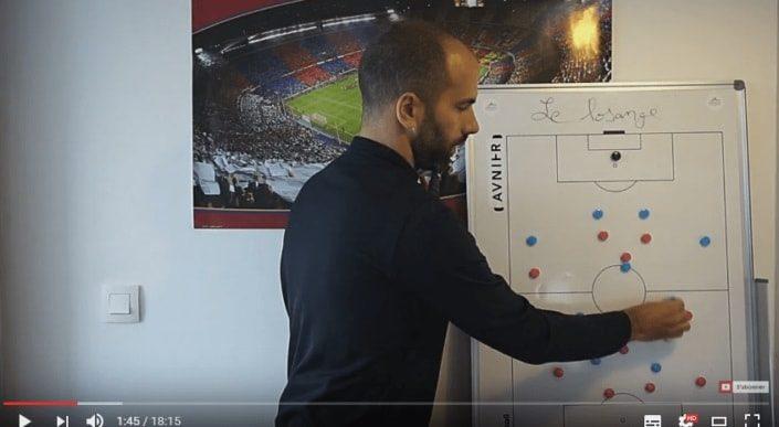 Vidéo tactique : animation du système en 442 losange