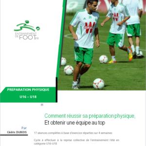 Livre de prépa physique pour la catégorie U16-U18 au foot
