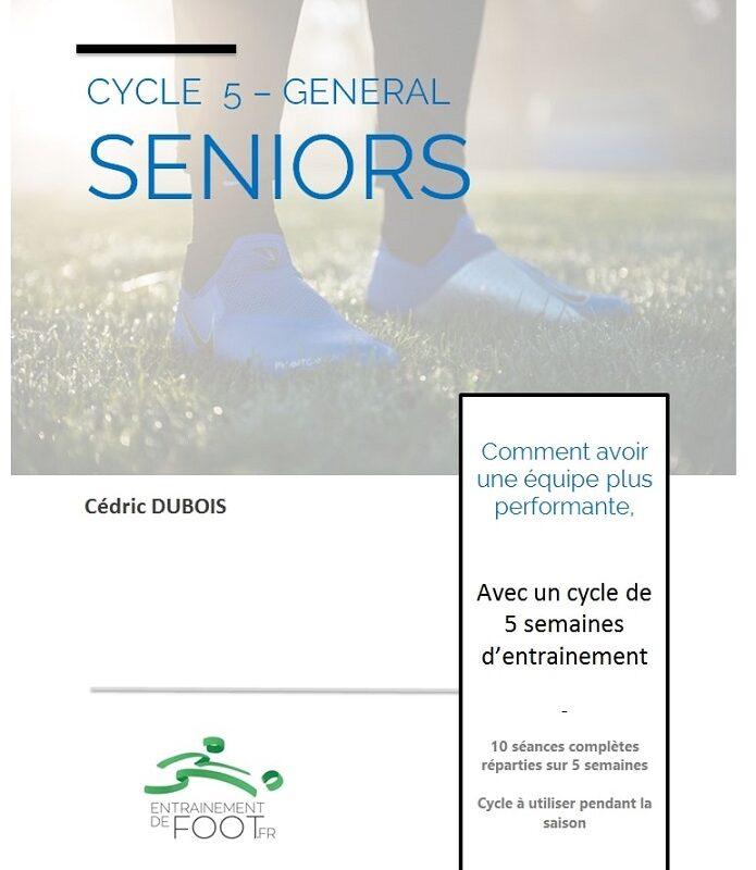 Livre d'entrainement de foot pour les seniors - cycle de 5 semaines