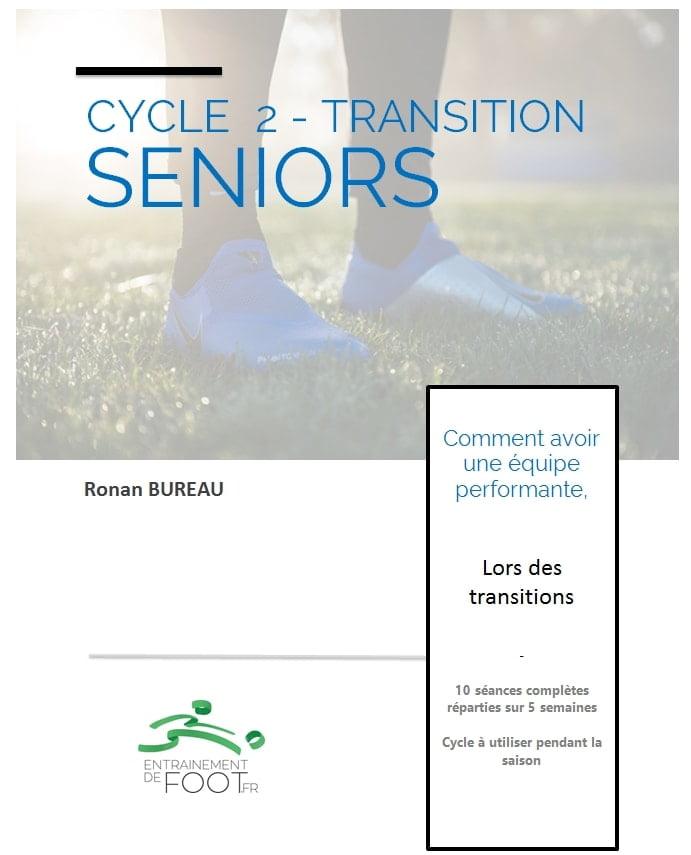Cycle d'entrainement de foot pour les seniors travailler les transitions