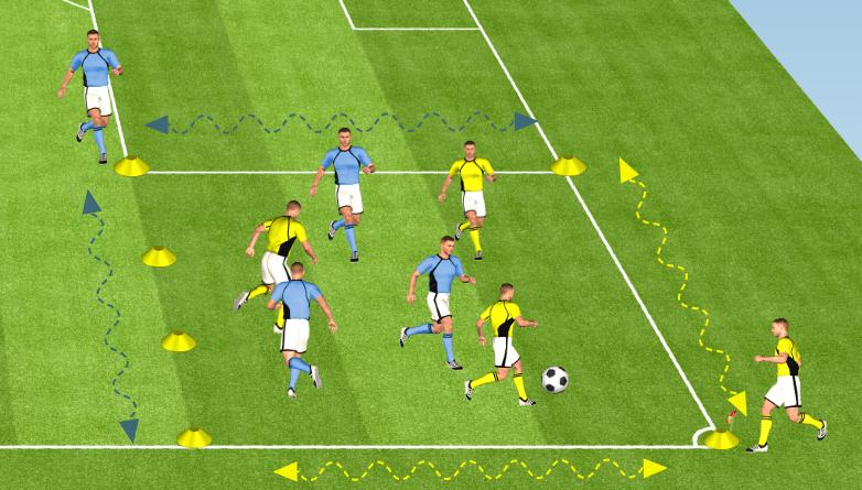 Exercice de foot pour réussir ses transitions