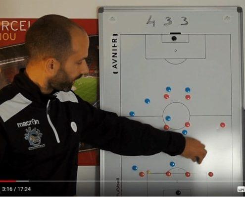 l'animation du système de jeu en 4-3-3