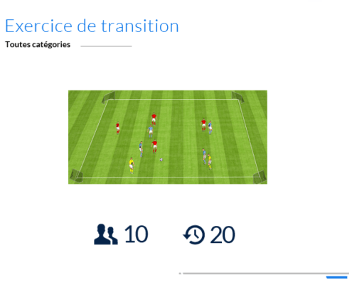Exercice de foot de transitions