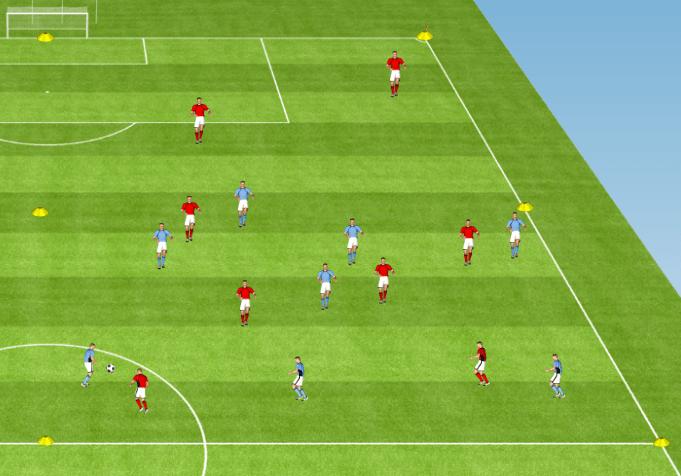 Exercice de foot pour travailler le pressing à la perte
