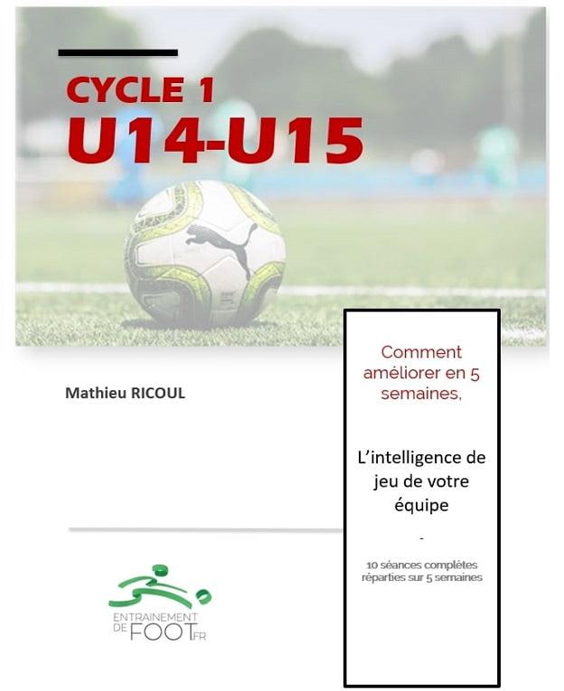 Livre d'entrainement de foot pour les U14 - U15 : 5 semaines d'entrainement pour améliorer intelligence de jeu
