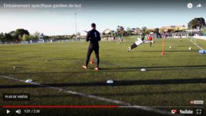 Vidéo et séance d'entrainement spécifique gardien