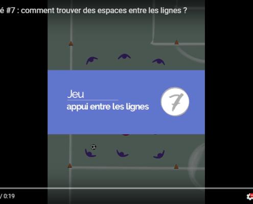 Exercice de foot comment trouver un appui entre les lignes