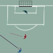 Exercice de foot spécifique gardien de but : relance sous pression