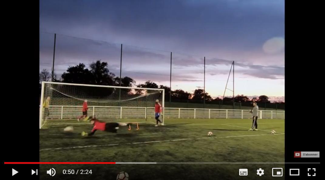 Vidéo d'un entrainement spécifique gardien