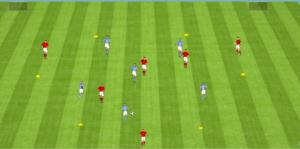 Exercice de foot comment presser en infériorité