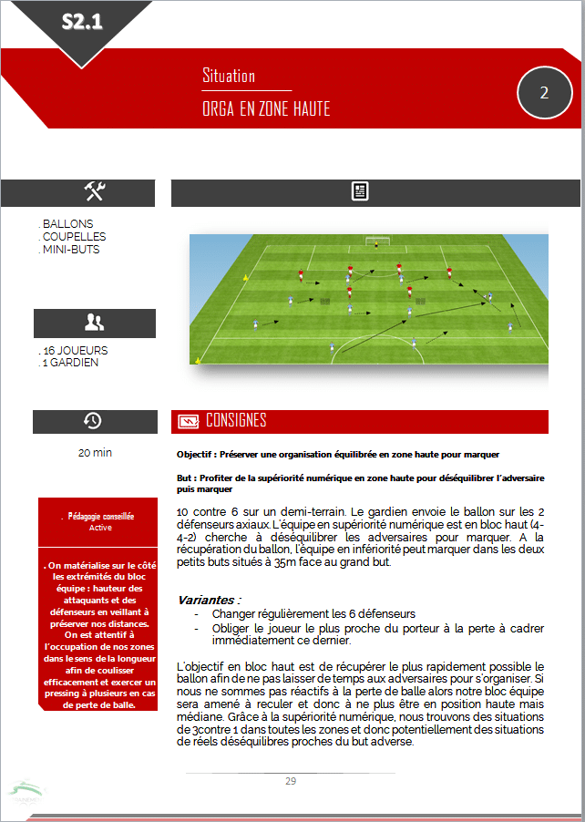 exercice de foot u14 u15