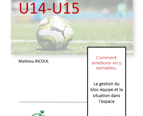 programme entrainement u14-u15