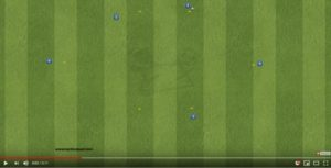 Exercice de foot pour travailler les combinaisons – vidéo