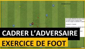 Exercice de foot: bien cadrer en défense
