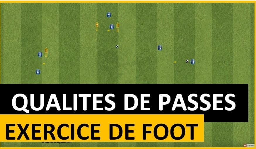 exercice de foot qualité de passes