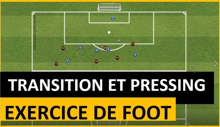 Exercice pour travailler les transitions au football