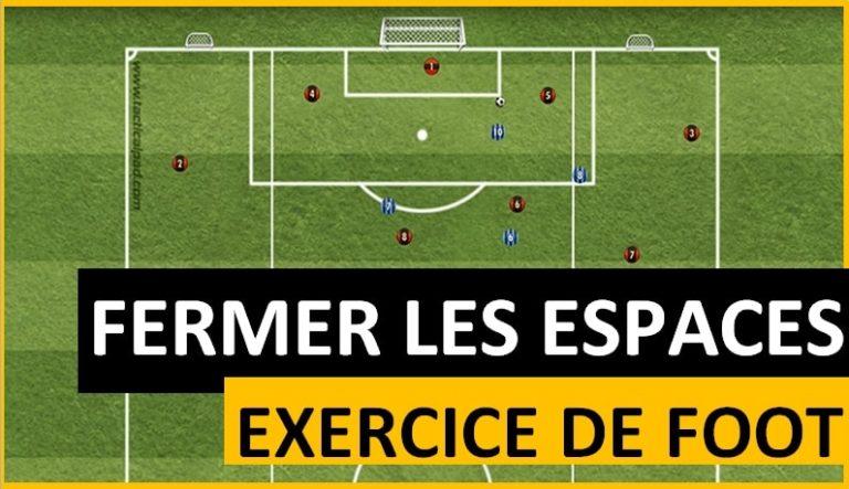 Exercice de foot savoir fermer les espaces