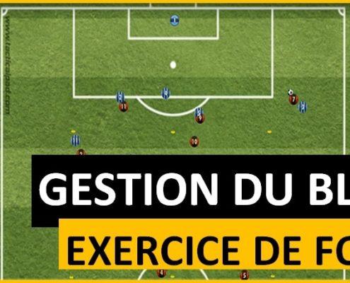 Exercice de gestion du bloc équipe au football