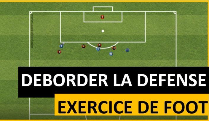 Exercice de foot pour apprendre à déborder la défense adverse