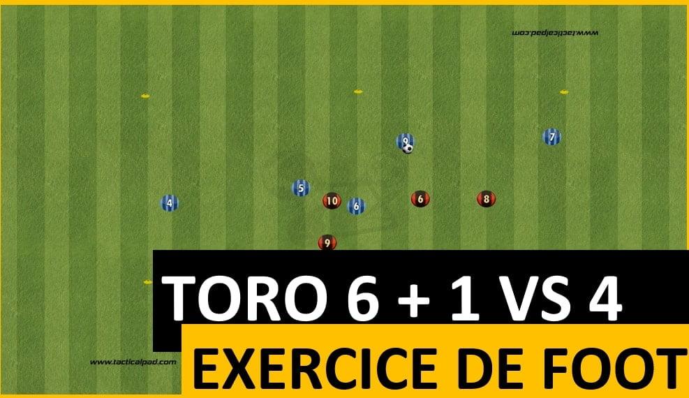 Exercice de toro au football