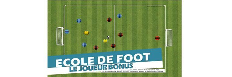 Se rendre accessible et visible au porteur de balle - Exercice de foot