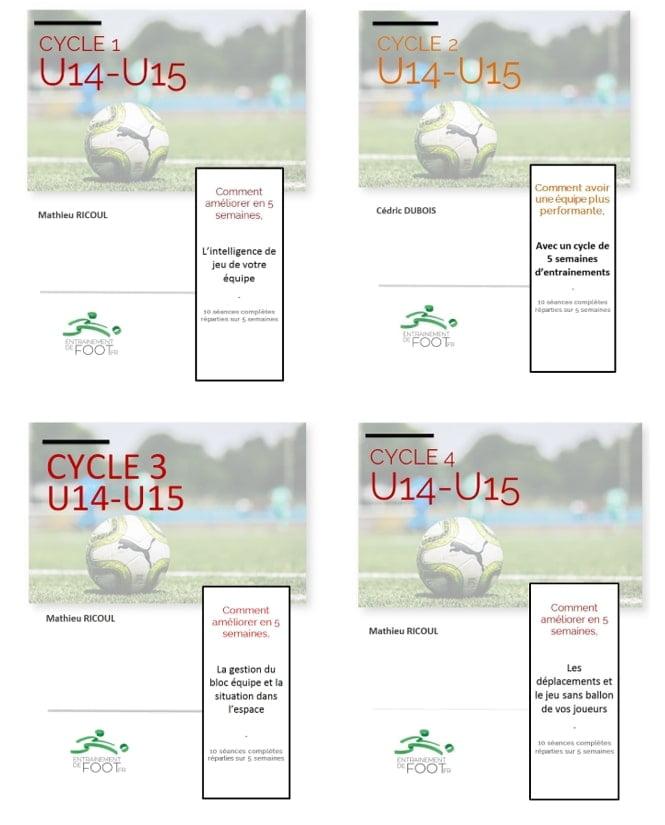 Pack Programme d'entrainement pour les U14-U15