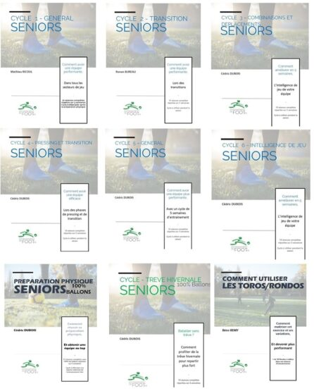Pack une année d'entrainement pour les Seniors Gardiens Attaquants Rondos