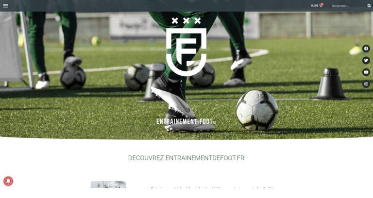 site entrainement de foot