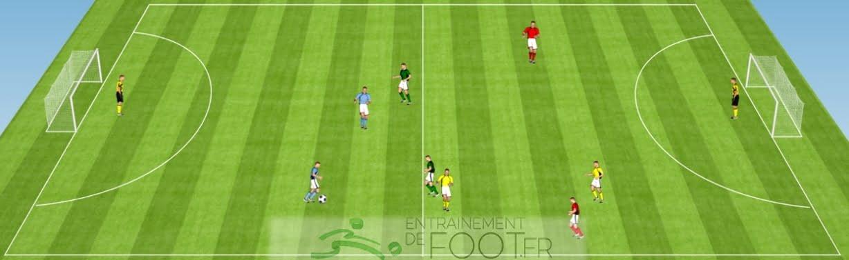 Travailler l'adaptation et la prise d'info au foot - Exercice de foot