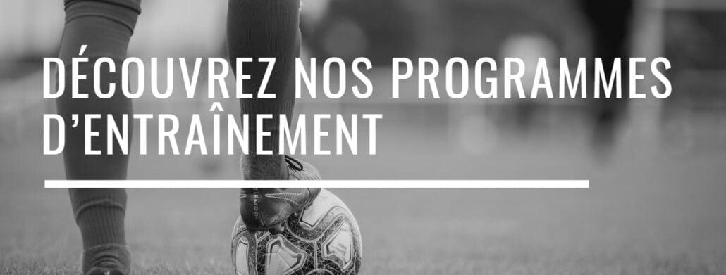 programmes d'entrainement de foot