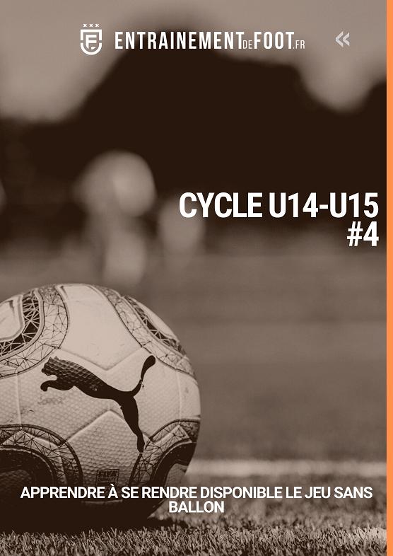 Livre d'entrainement de foot pour les U14 - U15 : apprendre à se rendre disponible le jeu sans ballon