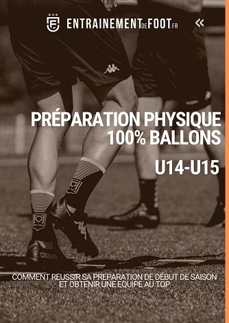 Préparation physique U14-U15 avec 100% des exercices avec ballon