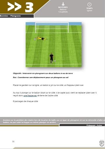Programme d'entrainement spécifique pour les jeunes gardiens - Cycle 1