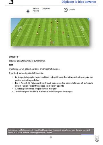 Toutes les séances et les exercices pour 6 semaines d'entrainements de foot pour l'école de foot - la création et l'exploitation des espaces